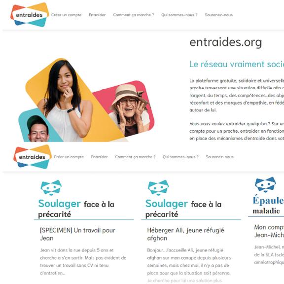 Plateforme Entraides : faciliter l'entraide entre particuliers pour les personnes qui traversent une situation difficile