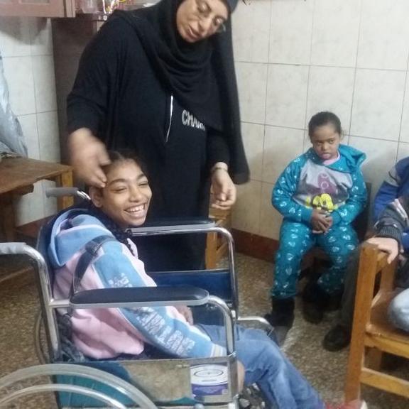Venir en aide aux enfant handicapés d'Imbaba