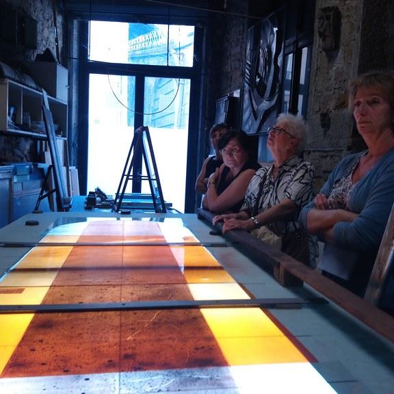 Création de vitraux contemporain pour l'église de Bron