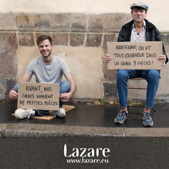 Un accompagnement social pour les colocs Lazare !